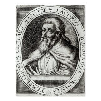 Mestre de Jacques de Molay dos cavaleiros Templars Cartão Postal