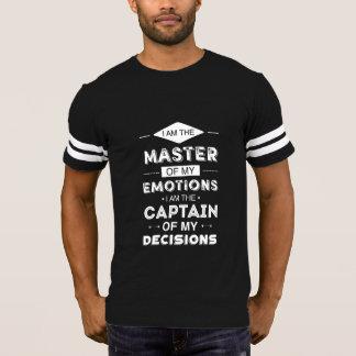 Mestre de minhas emoções camiseta