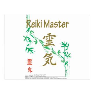 Mestre de Reiki Cartão Postal