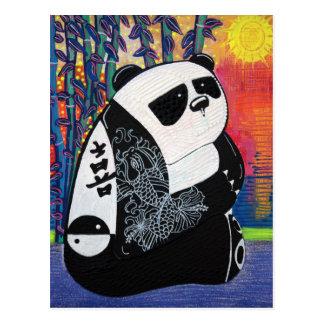 Mestre de zen da panda cartão postal