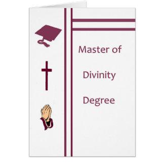 Mestre do grau da divindade, cartão