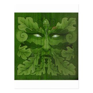 mestre do greenman cartão postal