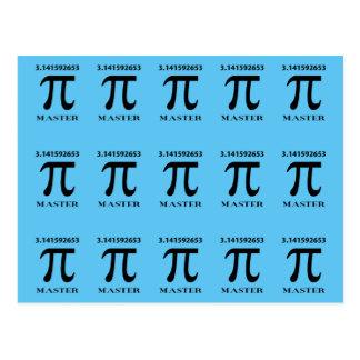 Mestre do Pi, símbolo do Pi e valor Cartão Postal
