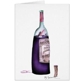 mestre do vinho, fernandes tony cartão comemorativo