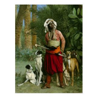 Mestre dos cães por Gerome Cartão Postal