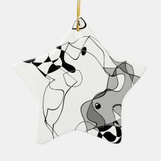 Mestre e Margarita Ornamento De Cerâmica Estrela