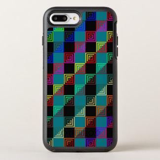 Metade-e-metade colorida dos quadrados capa para iPhone 8 plus/7 plus OtterBox symmetry