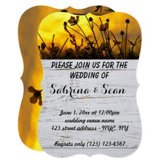 Metade misturada convite de casamento e meio