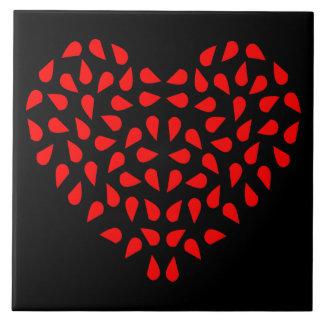 Metades dos corações azulejo