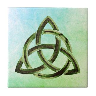 Metal celta do verde da aguarela do nó da trindade