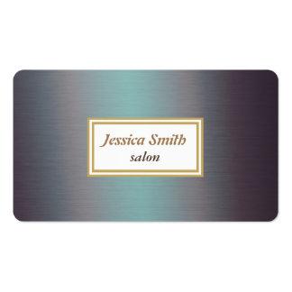 Metal chique liso elegante profissional cartão de visita