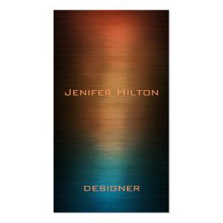 Metal colorido luxuoso moderno elegante cartão de visita