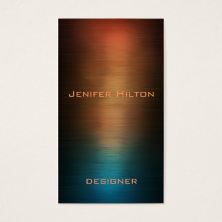 Metal colorido luxuoso moderno elegante cartão de visitas