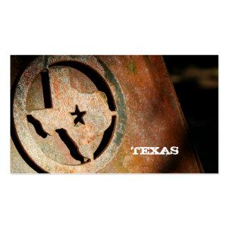 Metal da estrela do cartão de visita do mapa de Te
