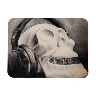 Metal da morte - ímã dos fones de ouvido do crânio