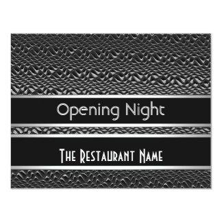 Metal da prata do preto da noite da inauguração do convite 10.79 x 13.97cm