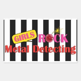 Metal da rocha das meninas que detecta a etiqueta