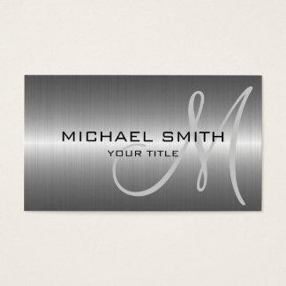 Metal de aço inoxidável de prata cartão de visitas