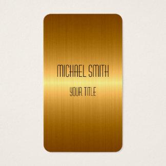 Metal de aço inoxidável do ouro cartão de visitas