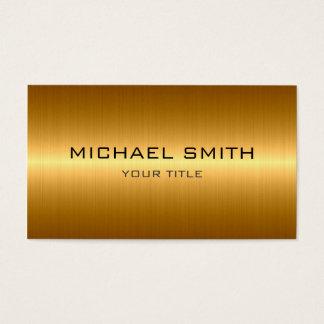 Metal de aço inoxidável do ouro feito sob cartão de visitas