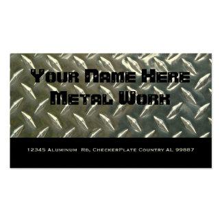 Metal de alumínio frente e verso para o mecânico cartão de visita