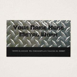 Metal de alumínio frente e verso para o mecânico cartão de visitas