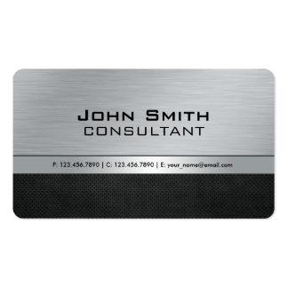Metal de prata preto moderno elegante profissional cartão de visita