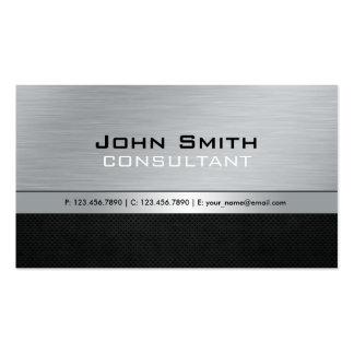 Metal de prata preto moderno profissional elegante cartão de visita