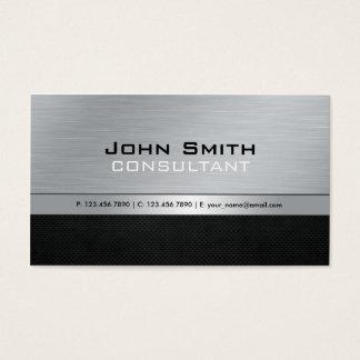 Metal de prata preto moderno profissional elegante cartão de visitas