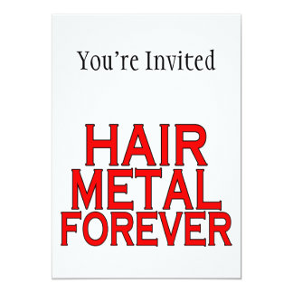 Metal do cabelo para sempre convite 12.7 x 17.78cm