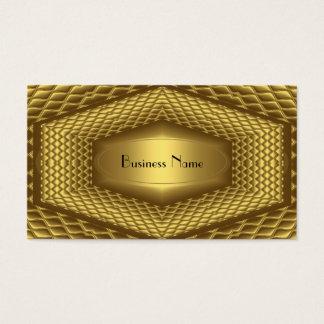 Metal do ouro do cartão de visita