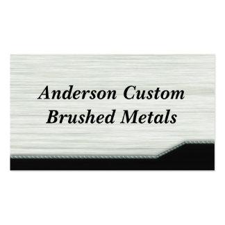 Metal escovado cartão de visita