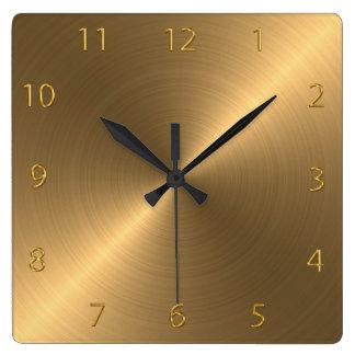 Metal escovado lustrado relógio de parede