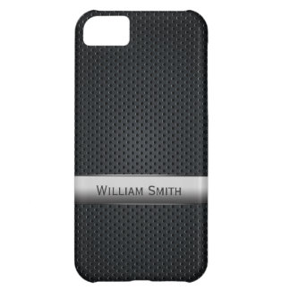 Metal escuro listrado de aço capa para iPhone 5C