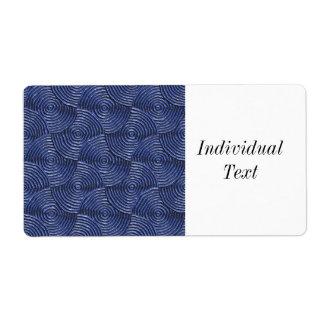 metal groovy sparkling, azul (i) etiqueta de frete