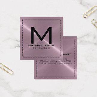 Metal inoxidável da lavanda moderna elegante do cartão de visitas quadrado
