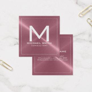 Metal inoxidável de cobre moderno elegante do cartão de visitas quadrado