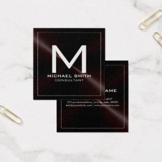 Metal inoxidável escuro moderno elegante do cartão de visitas quadrado
