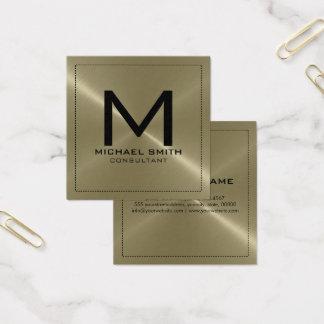 Metal inoxidável moderno elegante de Tan do Cartão De Visitas Quadrado