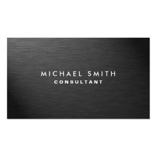 Metal liso preto moderno elegante profissional cartão de visita