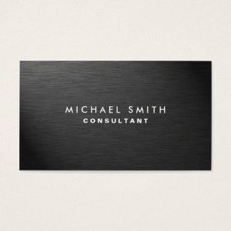 Metal liso preto moderno elegante profissional cartão de visitas