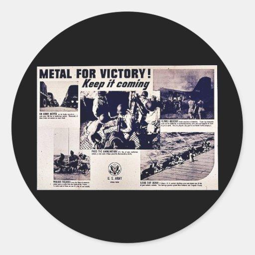 Metal para a vitória! adesivos em formato redondos