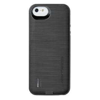 metal perfurado elegante escuro personalizado pelo capa carregador para iPhone SE/5/5s