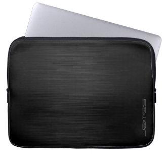 metal perfurado elegante escuro personalizado pelo capa para laptop