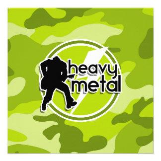 Metal pesado camo verde-claro camuflagem convite