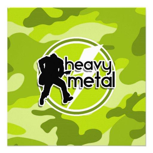 Metal pesado; camo verde-claro, camuflagem convite