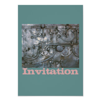 Metal pesado do ferro do Grunge Convite 12.7 X 17.78cm