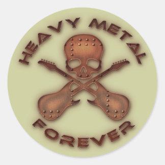 Metal pesado para sempre adesivo em formato redondo