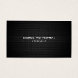 Metal Textured preto moderno profissional Cartão De Visitas