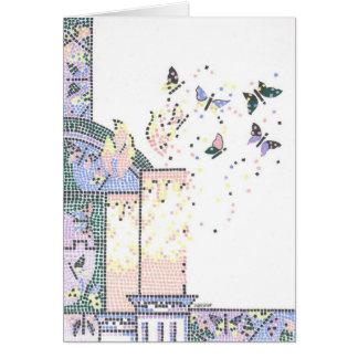 Metamorfose do mosaico cartão comemorativo